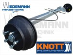 Knott Anhängerachse VGB18-MV, 1800 kg, 1000mm, RA=112x5