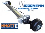 Knott Anhängerachse VGB13-M, Auflage 1000 mm, Radanschluß 112x5